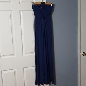 VS Strapless Navy Dress